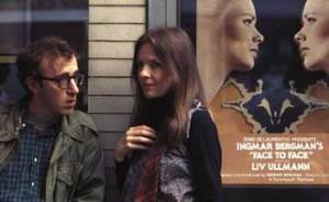 Woody Allen and Diane Keaton on the set of Annie Hall.